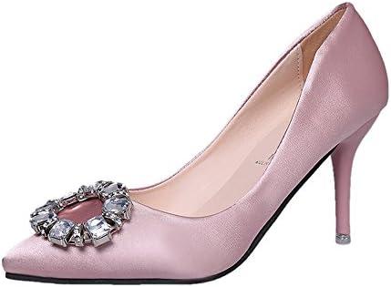 Tacones Altos De La Mujer Satinado Sexy Boca Baja Puntiaguda Tacones De Tacón De Aguja Sandalias Zapatos De Dama...