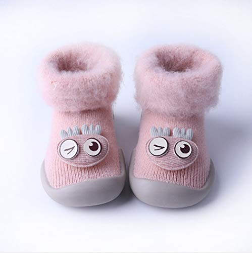 DCPPCPD Socken Kinder Baumwolle Babys Walking Silikon Slipproof Stock Socken Winter Heizung Verdickung Atmung Weichheit Komfort Midbarrel 0-1-3 Jahre Alt, 02 L