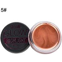 s.f.r color Pro Highlight Cream, High Gloss Cream 3D Brightening Shadow Cream Pearlescent Face Eye Foundation Corrector Grooming Cream Herramienta de Maquillaje