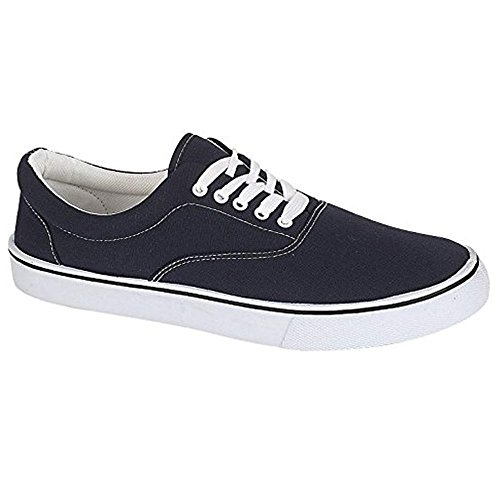 UNISEX LACE UP MENS WOMENS PLIMSOLES PLIMSOLLS PUMPS TRAINERS ESPADRILLES DECK SKATE...
