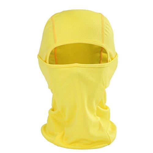 7 color wings passamontagna unisex–attrezzature sportive antivento antipolvere sottocasco balaclava regolabile maschera facciale per equitazion (giallo)