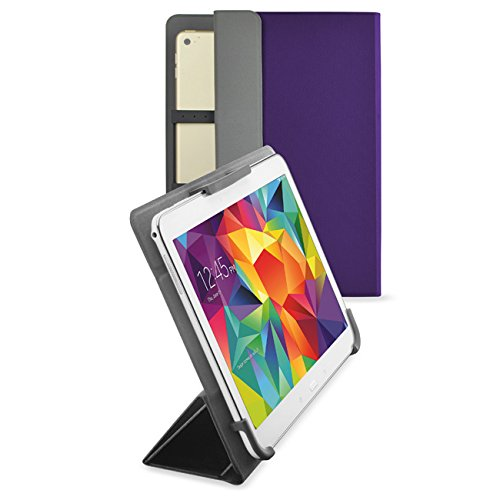 Android Hp-10 Tablet-fall (vanctec Universal Tablet Hülle 25,4 cm, Tablet Fall 25,4 cm, Universal Tablet PU Leder Folio Stand Cover mit Standfunktion Kamera gratis für Android Windows Tablet ASUS, Acer, RCA, Dell, HP violett violett 22,9-25,4 cm (9-10 Zoll))