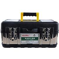 Cassetta degli attrezzi Caja de herramientas de hardware Mantenimiento multifuncional Caja portátil para almacenamiento de automóviles (Color : NEGRO, Tamaño : 14'')