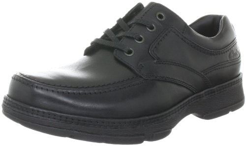 Clarks Star Stride 203256218, Herren Casual Schnürer, Schwarz (Black Leather), EU 43 (Schuhe Casual Clark)