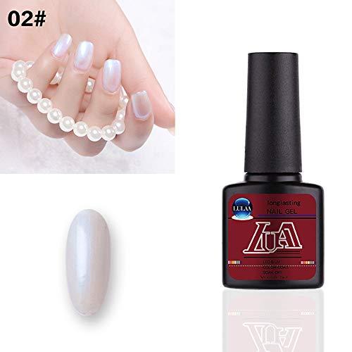 Quaan LULAA 8ML Schale Gel Nagel Polieren Matt Oben Mantel UV LED Gel Polieren Halb Permanent V