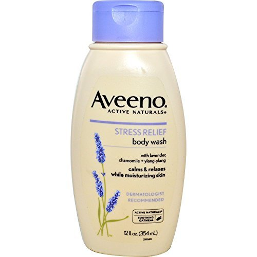 Aveeno,Active Naturals, Stress Relief Body Wash, 12 fl oz (354 ml) (pack of 2) by Aveeno
