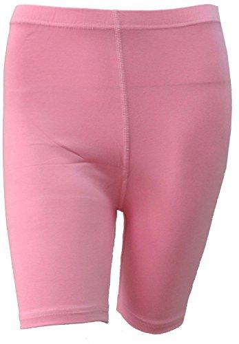 dames femmes cyclisme short lycra coton extensible au-dessus du genou sportive quotidienne court legging actif rose pâle(pale pink)