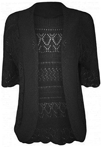 Crazy Girls Womens Crochet Knitted Bolero Shrug Open Cardigan Top Plus Sizes