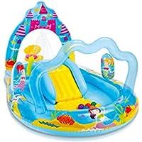 INTEX - Centro Juegos Hinchable, 279 x 160 x 140 cm, diseño Mermaid Kingdom (57139NP)