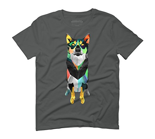 Polygon Husky Men's Graphic T-Shirt - Design By Humans Anthracite