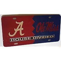 Preisvergleich für Alabama Crimson Tide–Ole Miss Rebels–Haus geteilten verspiegelt Auto Tag Nummernschild von der Sport-Fan Store