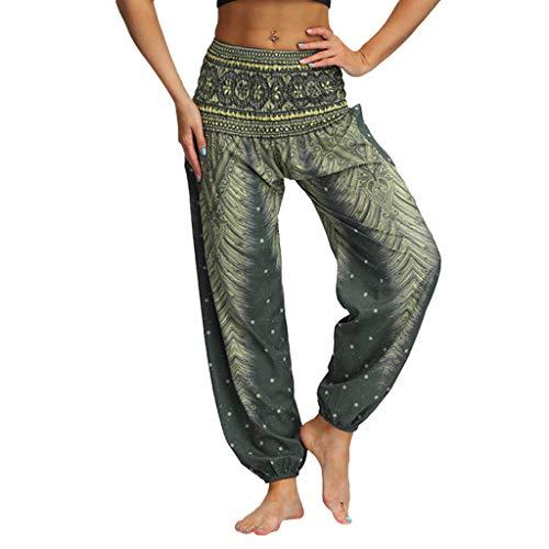 Daysing Pantalon De Travail Femme, Hommes Femmes Casual Pantalons De Yoga En Vrac Hippy Baggy Boho Aladdin Pants Nouveau Pantalon De Yoga à LaçAge Floral Ample Et Confortable De Grande Taille D'éTé