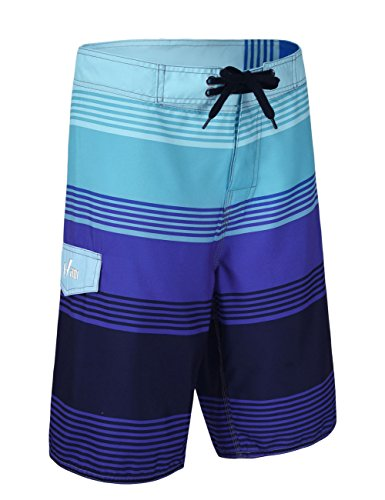 Hilor Herren Schnell Trocknend Boardshorts Surfshorts Strand Shorts Badeshorts Streifen 2 Lila