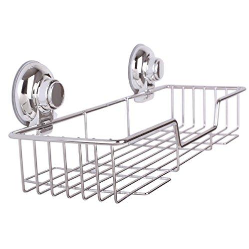 Sann Home Life SANN Shower Caddy with Super Strong Suction Cups Rustproof Bathroom Caddy Wall Shelves Kitchen Storage Basket Holder