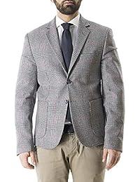 0f009209cf71 Giacca Invernale Casual da Uomo in Lana Fantasia Principe di Galles Bianco  E Nero vestibilità Slim