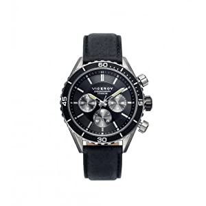 Reloj Viceroy 471041-57 Hombre Piel Acero Titanio Cronógrafo de Viceroy