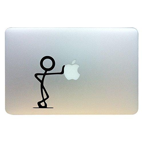 MacBook Aufkleber, Chickwin Creative Pattern dekorativ Film Notebook Sticker Skin personalisierte Aufkleber MacBook Decal (13.3/15.4/17 Zoll) (Push Apfel) (Angeles Los Notebook 17)