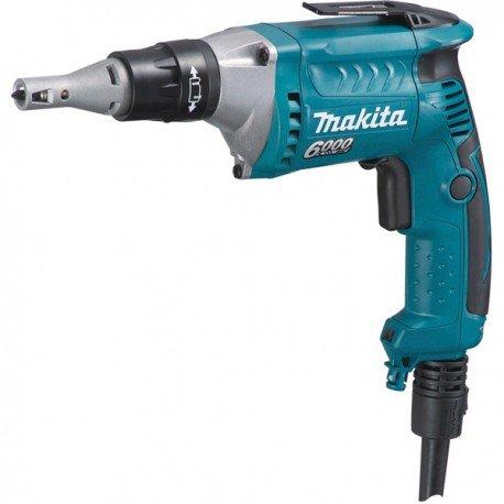 Makita FS6300R Atornillador Con Tope Profundidad 570W 6000 Rpm 1.4 Kg Embrague Silencioso 570 W, 220 V, Azul 0