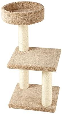 AmazonBasics Cat Activity Tree with Scratching Posts, Small/Medium/Large