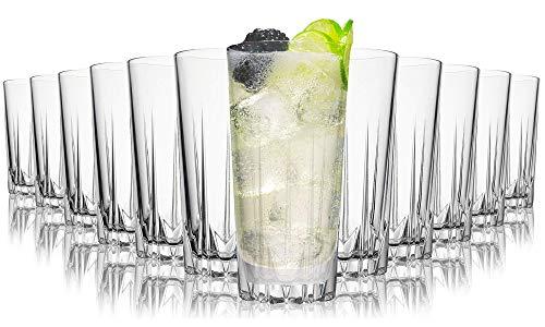 Tivoli Miami Saftgläser - 330 ml - Set aus 12 - Hochwertige Gläser - Spülmaschinenfest - Kristallgläser