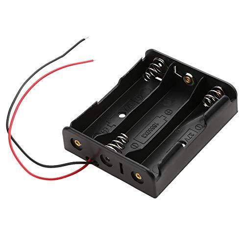 JUNERAIN 1pcs 3 Slots Plastic 18650 Baterías Soporte de Caja de Almacenamiento w/Wire Lead Pin