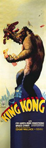 1art1 73752 King Kong - Und Die Weiße Frau, Edgar Wallace, 1933, 1-Teilig Fototapete Poster-Tapete 250 x 79 cm Wallace Antik