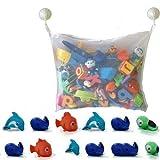 Dedeka Bad Spielzeug Netz, Bad Spielzeug Organizer, Badewannen Organizer, Ordentlich Toys Mesh Beutel, Multi-Use-Dusche Taschen Machen(Weiß) mit 2X kräftige Saunäpfen, Erschwinglich!!!