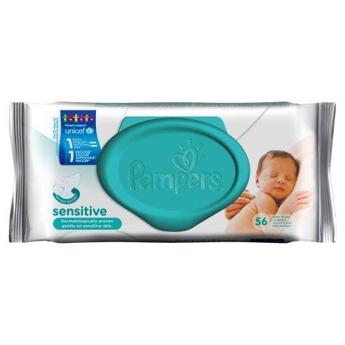 PAMPERS Sensitive 56 Lingettes pour Bébé
