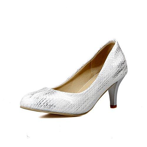 BalaMasa da donna, tomaia a taglio basso, in pelle, per scarpe Imitated pompe White