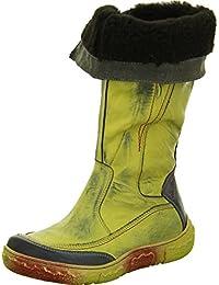 Carinii A9946 Damen Stiefel Leder Reißverschluss Warmfutter Gelb