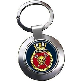 HMS Ausonia Chrome Keyring