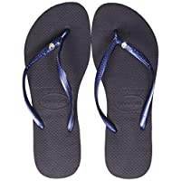 Havaianas Slim Crystal Glamour Sw, Women's Slippers, Blue (Navy Blue), 37/38 EU