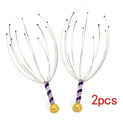 Miji Massage a Pack of 2 Hand Held Scalp Head Point Head Massager, Portable Head Massage Head Scalp Healthy Massage for Relax