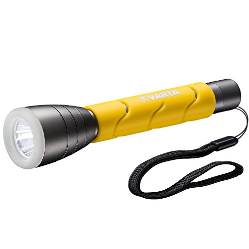Varta LED Outdoor Sports Taschenlampe F20, 5 Watt, inkl. 2x Longlife Power AA Batterien Flashlight Leuchte Taschenleuchte Lampe, IPX4 spritzwassergeschütztes Gehäuse