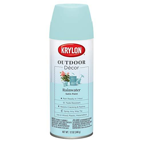 Krylon Outdoor Decor Spray Paint 12oz-Rainwater -
