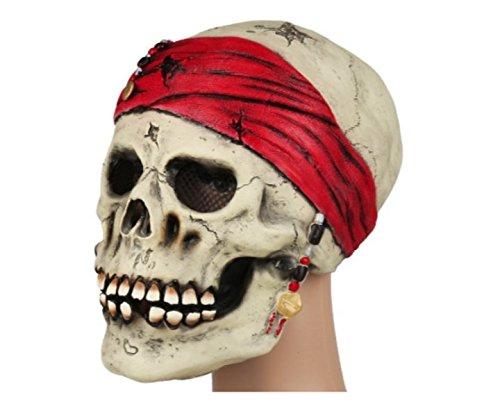 Halloween Maske Totenkopf Pirat Partymaske