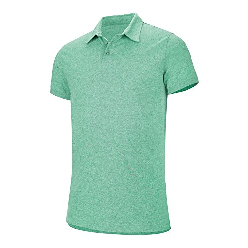 Kariban Herren Melange Kurzarm Polo Shirt Grün