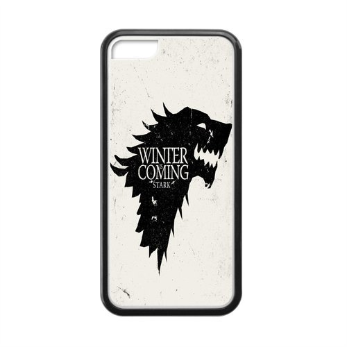 Game of Thrones Rückseitenschutz für Apple iPhone 5 / 5C, Motiv: Winter is Coming Stark (Besten Wolf Kostüm)