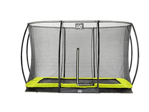 EXIT Silhouette Bodentrampolin 214x305cm mit Sicherheitsnetz - grün