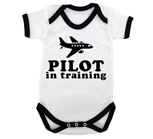 pilot-in-training-design-baby-body-mit-schwarz-kontrast-trim-schwarz-print-gr-68-weiss-schwarz