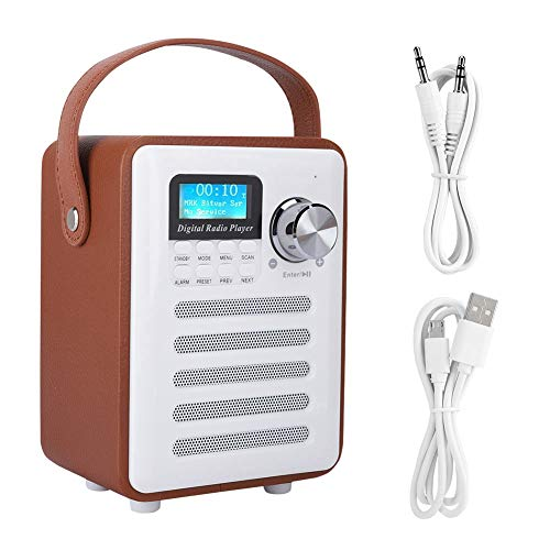 Jacksking Tragbares Radio, Mini-tragbares DAB/DAB + Digitales UKW-Internetradio Bluetooth-Lautsprecher, UKW-Radiosprecher