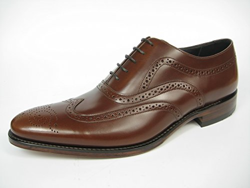 Loake Jones Goodyear Welted Welted In Pelle Scarpe Oxford Budapester Tan / Marrone Tan