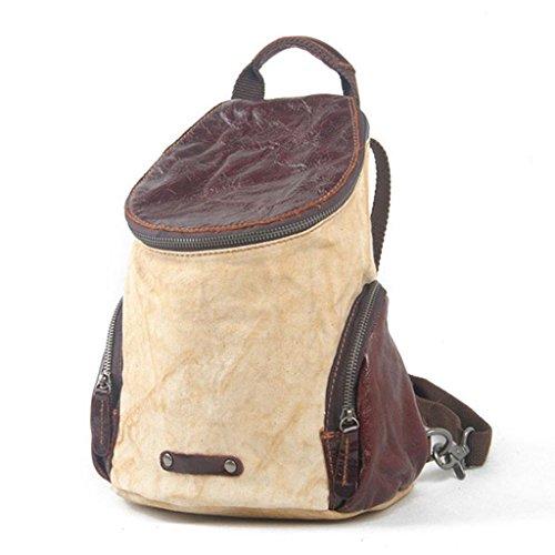 Europa e negli Stati Uniti tela zaino borsa casual borsa da viaggio zaino, meters white meters white