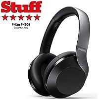 Philips Over Ear PH805BK/00 Over-Ear (Bluetooth, Noice Cancellation, 30 Horas de autonomía, Audio Hi-Res, micrófono, Asistente de Google) Color Negro