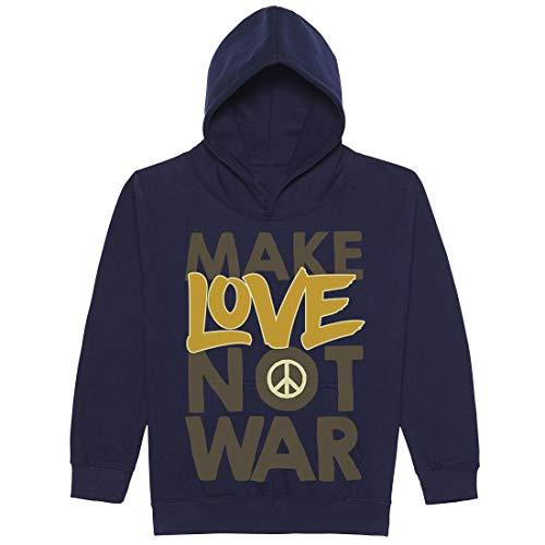 BLAK TEE Make Love Not War Peace Slogan Graffiti Unisex Jungen Mädchen 12 Jahre