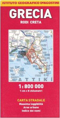 Grecia. Rodi, Creta 1:800.000 (Carte stradali estero) por aa.vv.