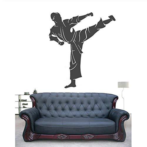 Wandaufkleber, Karate bewegung DIY Büro Regeln Decor Wohnzimmer Wand für Kinderzimmer PVC Kunst Benutzerdefinierte Wandbild Wasserdicht Abnehmbare Geschenk Geburtstag 56x89cm