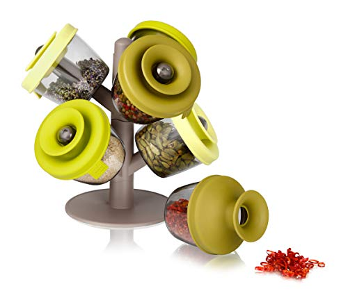 Tomorrow's kitchen popsome set de 6 -2843660- Arbol dispensador para especias y hierbas, color verde