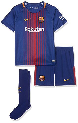 Nike Kinder Breathe FC Barcelona Outfit, Deep Royal Blue/University Gold, S -