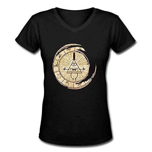 PLUSa Damen's V Neck Gravity Falls Symbol Mysteries Tees XX-Large -